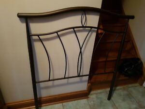 Wrought Iron Twin Headboards and bed frame