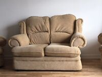 Beige sofa 2 seaters for 65 £