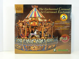 Enchanted Carousel Musical Built Art Collection