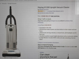 Maytag M1200 Upright Vacuum- TOP RATED, NEARLY NEW