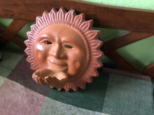 TERRA  COTTA WALL HANGING SUN WITH HANDS