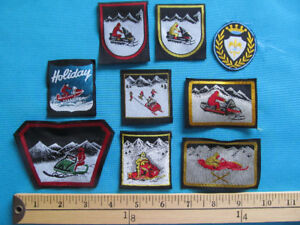 9 RARE SNOWMOBILE  RACING MOTONEIGE SKI-DOO PATCH ECUSSON