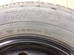 Cooper  P185/65R14 M+S CS4 Touring Tires on Rims (Set of 4)