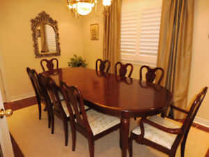 Gibbard solid cherry dining room set in excellent condition