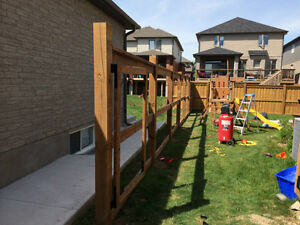 Post Hole Digging in the Area.  Fences built or Deck Footings Cambridge Kitchener Area image 2