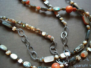 Silpada Coral Pendant and Necklaces