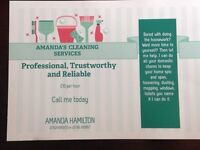 Amanda's cleaning services