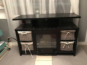 Fire place entertainment stand, mounted tv stand