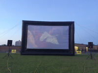 INFLATABLE MOVIE UNDER THE STARS PACKAGES $399 +