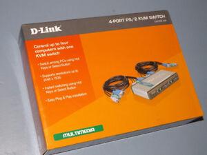 D-Link 4-Port PS/2 KVM Switch DKVM-4K