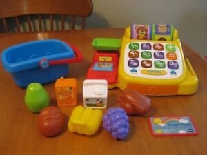 VTECH CASH REGISTER LEARN TO COUNT PLAY FOOD