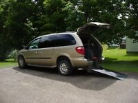 2004 Dodge Grand Caravan, Rear wheelchair entry