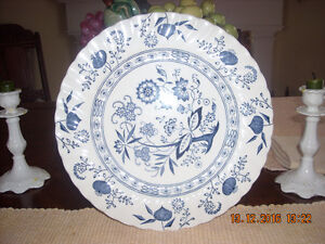 Blue Nordic Dinnerware/Onion & Floral Design by Johnson Brothers