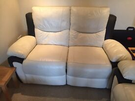 Leather 3 piece suite. All recliners.