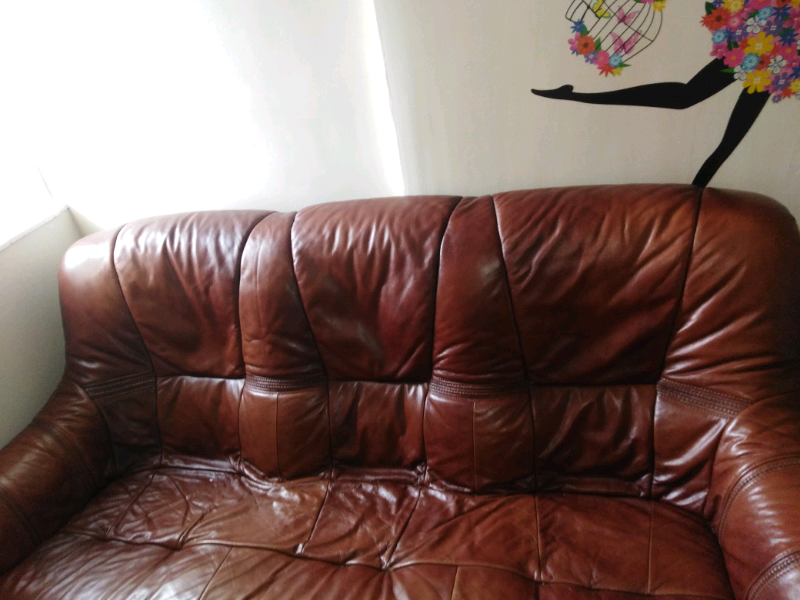 Cheap Leather Sofa In North Shields Tyne And Wear Gumtree