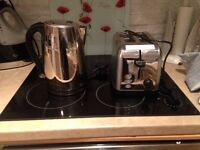 Toaster and kettle. Each
