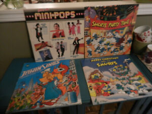 Vinyl Records Children LP Albums Sesame Street,Smurfs Lot of 10