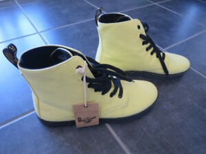 Dr. Martens-Air Wair: Hackney, acid yellow en canevas