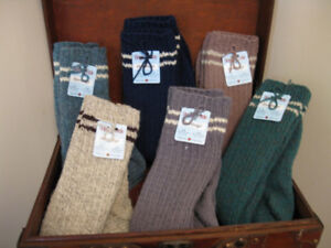 Men's and Women's wool socks and mitts