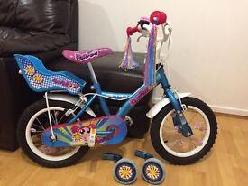 Girls Bike Apollo Pompom bike with Stabilisers