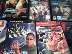 Lot of 5 WWE PS2 Games