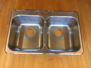 Évier double en stainless  - Double Stainless sink