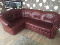Leather Corner Sofa Bed 3-2