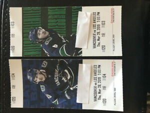 Canucks vs. LA Kings Lower Bowl sec 120, row 8. March 28th 2019
