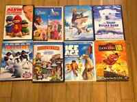 Kids' DVDs $2 each