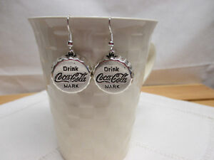 """Earrings - """"Drink Coca-Cola"""" - silver-plated or bronze"""