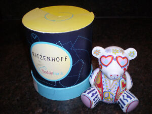 ZITZENHOFF PEACE TEDDY BEAR BANK