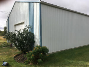 HUGE SHOP FOR RENT &  OUTDOOR STORAGE 1 MIN FROM BOWDEN