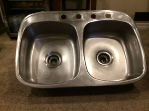 Double Drop-in Stainless Steel Kitchen Sink