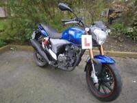 KEEWAY RKV 125 IN BLUE, PRE REGISTERED, UK DELIVERY