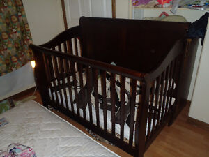 All Wooden Sleigh Style Crib For Sale