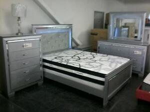 45% Off  - New Floor Model LED Queen Bedroom Set $3999 taxes included until the end of October