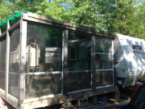 Screened in room and decks