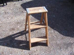 Vintage 2 Step Wooden Step Ladder For sale