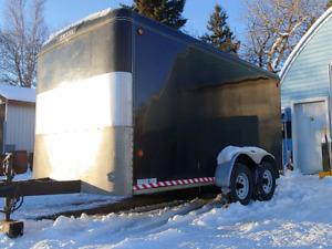 HD AXLES - 7x14 Enclosed Cargo Trailer - RAMP DOOR