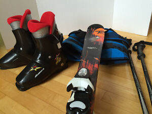 Schimitar jr skis, poles and boots
