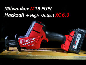 Milwaukee M18 FUEL Hackzall + One High Output XC 6.0 Battery