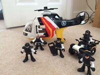 Imaginext helicopter/quad set