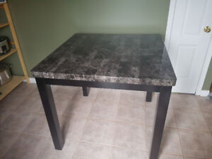 Kitchen/Dining counter height table with 4 chairs
