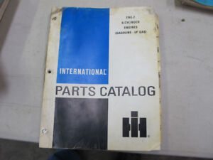 IH Tractor 6 Cyl LP Gas Engine Parts Manual