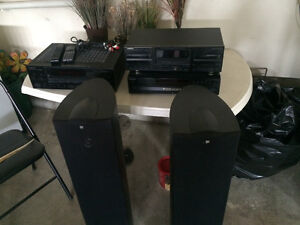 Kenwood/Sony Stereo and speakers