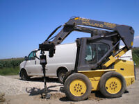 Skid Steer, Bobcat, Excavation, Concrete Work, Post Holes, etc.