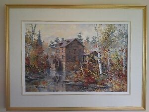 Original Oil Painting by James L. Keirstead – Misty Morn Kingston Kingston Area image 1