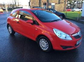 0808 Vauxhall Corsa 1.3CDTi 75ps Life Red 3 Door 78878mls MOT 12m £30 Road Tax