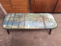 Fabulous retro coffee table (needs repair)
