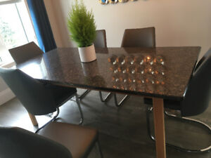 GRANITE DINNING TABLE-EXCELLENT CONDITION